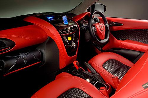 The interior of the Aston Martin Cygnet