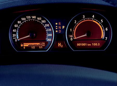 BMW Hydrogen 7 dashboard