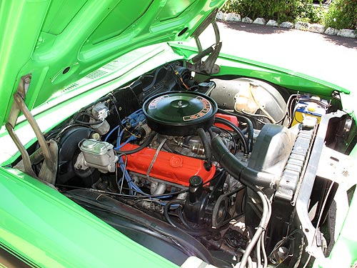 The 4.2 litre engine in the 1976 Holden Sandman