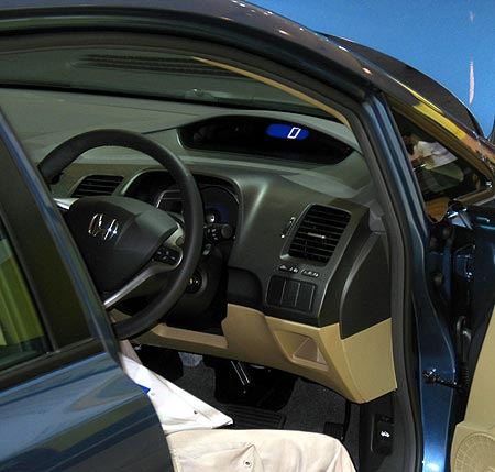 Honday Civic Hybrid dashboard