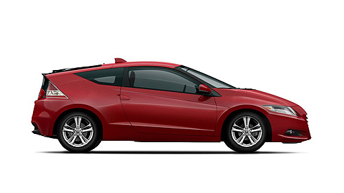Side view of the Honda CR-Z hybrid sports car