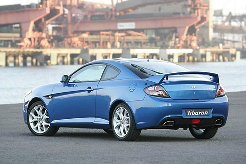 The rear of the Hyundai Tiburon
