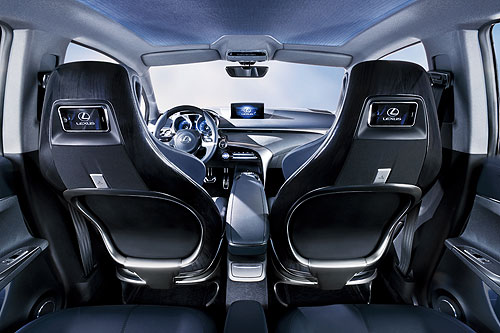 Interior of the Lexus LF-Ch concept car