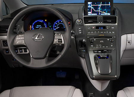 Driver's controls in the Lexus HS 250h