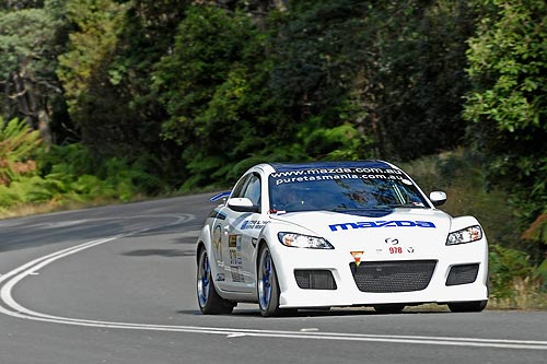 Mazda RX 8 SP running in the 2009 Targa Tasmania