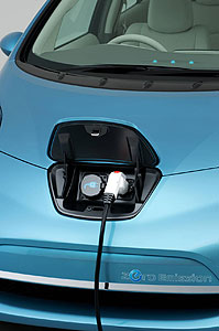 Topping up the Nissan Leaf