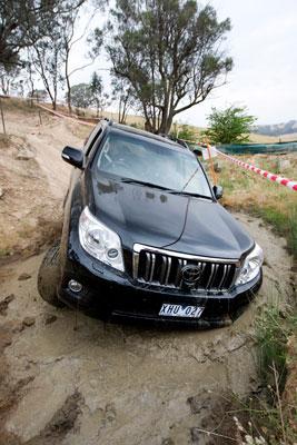 The new Toyota Prado ZR in the mud