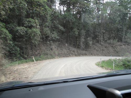 Downhill control is excellent in the 3-door Toyota Prado