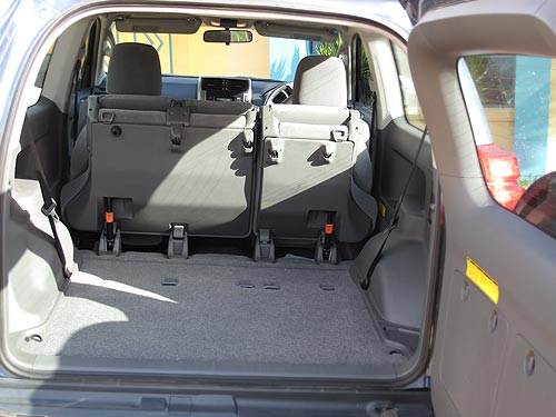 Luggage space in the Toyota Prado 3-door