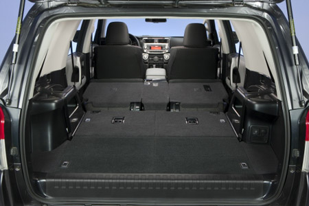 Carpeted interior in the 2009 Toyota 4Runner SR5
