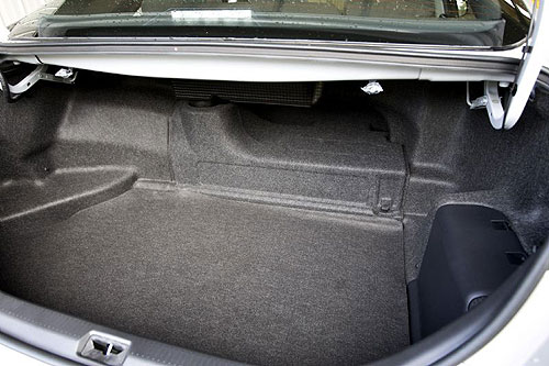 the boot of the new hybrid camry