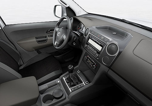 Interior of the VW Amarok