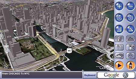 Google and Volkswagen navigation system