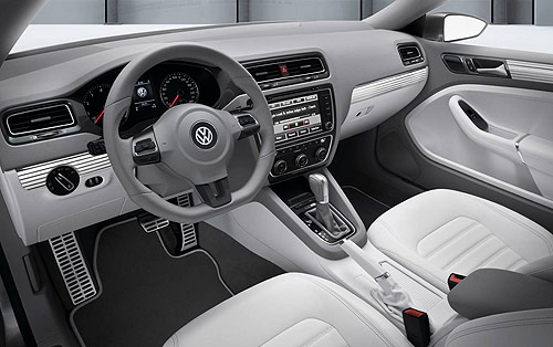 The dashboard of the VW Compact Coupe