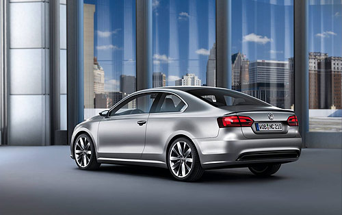 The rear of the new VW Compact Coupe