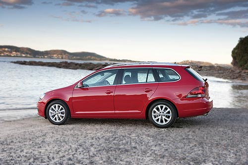 Side view of the new VW Golf wagon