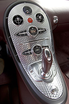 Bugatti Veyron console