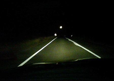 Night driving in Queensland