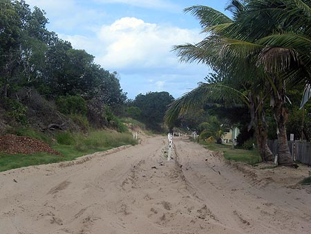 Divided road on Fraser Island