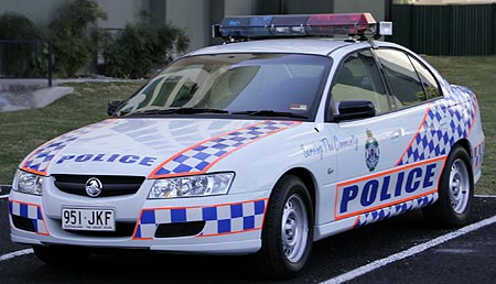 High visibility Queensland police car