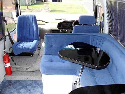 Toyota Coaster motor home interior
