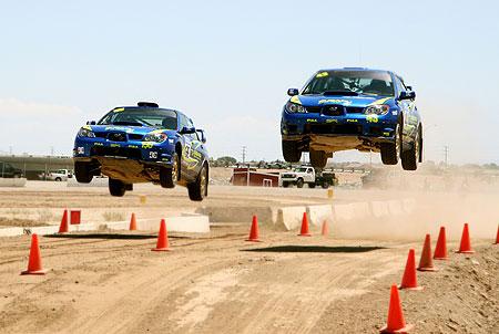 Subaru rally team