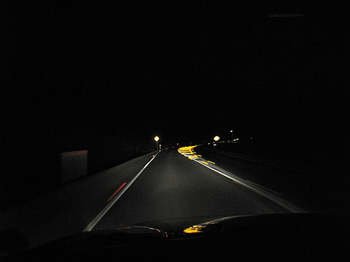 Driving on country roads at night can be scary for there are no lights out there