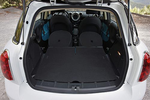 The luggage space in a MINI Countryman