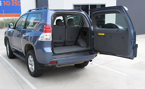 Big rear door on the Toyota Prado