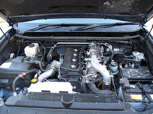 The 3-litre turbo charged diesel in the Toyota Prado SX
