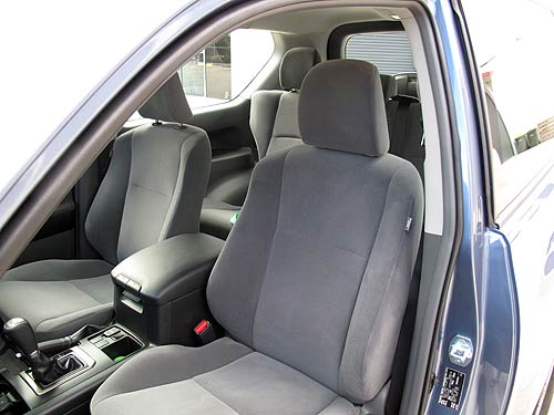 The seats in the Prado SX are upholstered in cloth/velour and for me they're far better than leather.