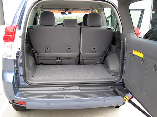 Luggage space with the rear seats up