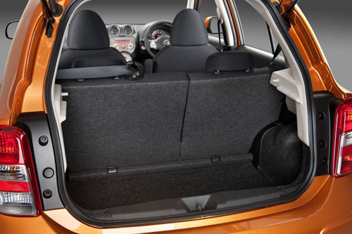The Nissan Micra is a city car so don't expect a lot of boot space