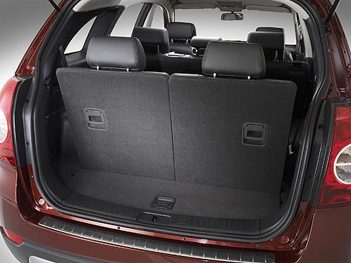 Luggage capacity in a Captiva 7 with all seats in the upright position