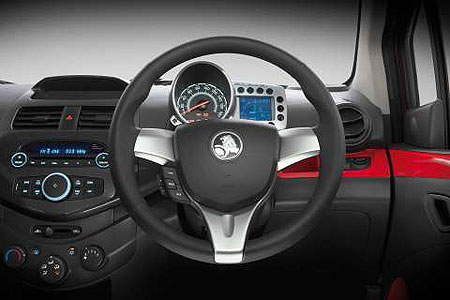 The Barina Spark instrument cluster is definitely different