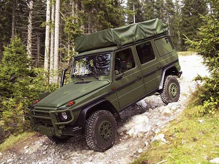 The European military version of the Mercedes G Class