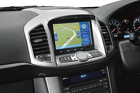 Satellite navigation in the Series II Captiva 7 LX