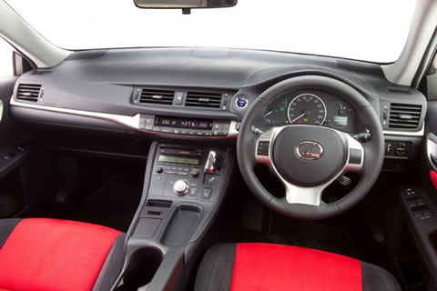 Redback interior trim on the base model Prestige