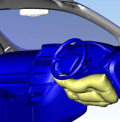 Extra airbag protection for the driver's knees in the new Ford SZ Territory