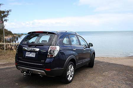 The rear of the Series II Holden Captiva LX