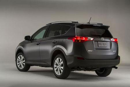 the rear of the new 2013 toyota rav4