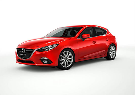 The new Mazda 3 grille