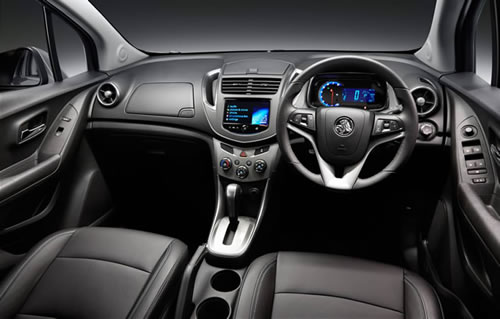 Dashboard on the Holden Trax