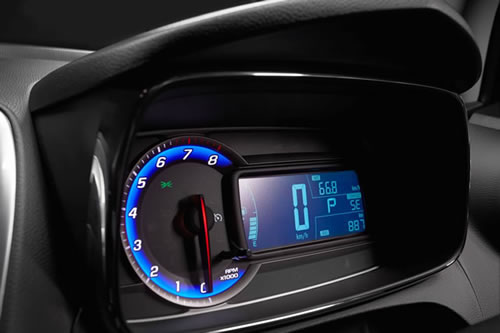 the instrument cluster in the Holden Trax