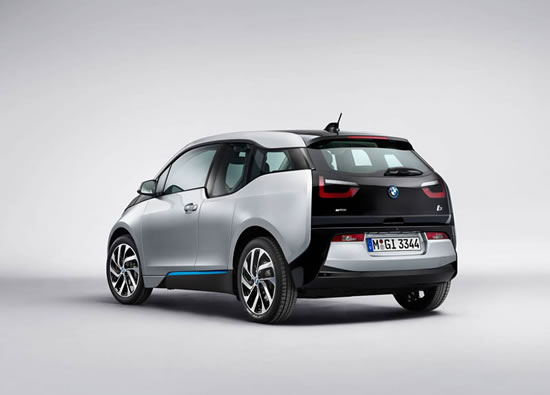 rear view of the bmw i3