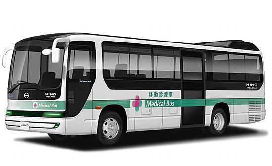Hino hybrid bus