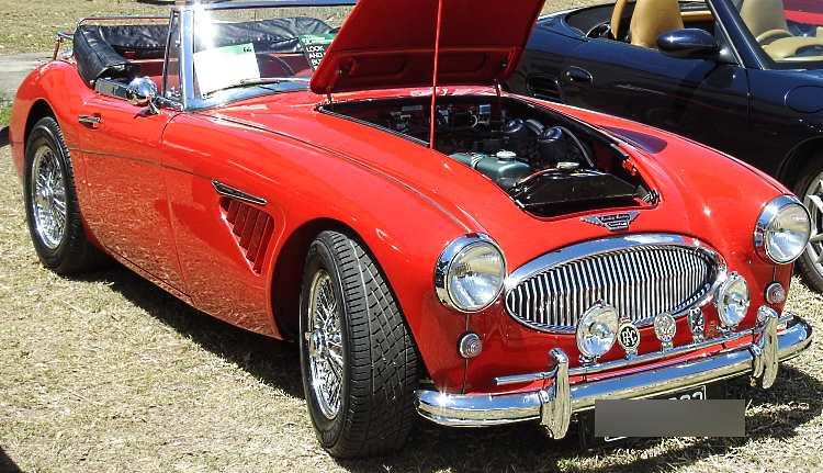 An Austin-Healey ... a beautiful example of British power