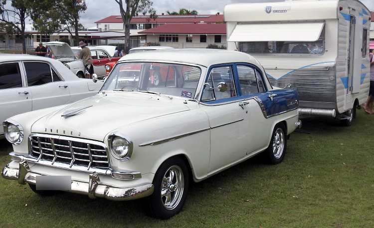 The FC Holden was the typical family sedan back in its day and a lot of them pulled caravans