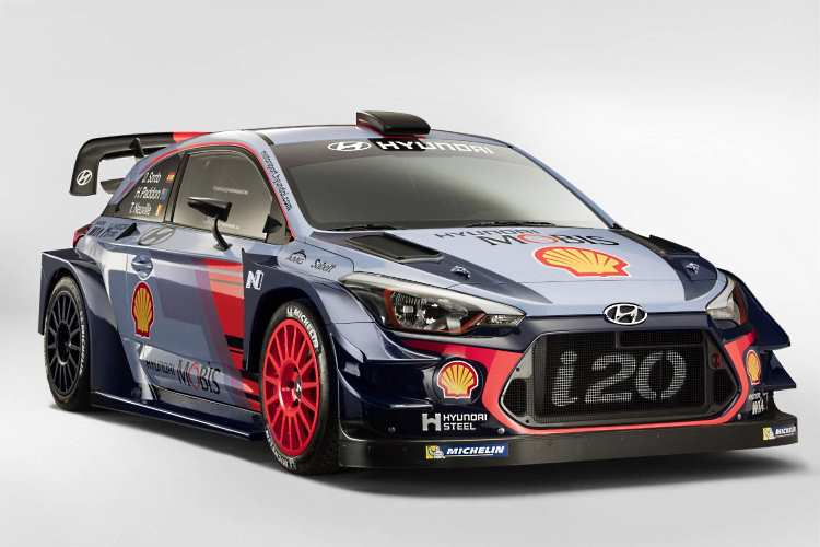 Hyundai's new WRC car - a Hyundai i20 couple
