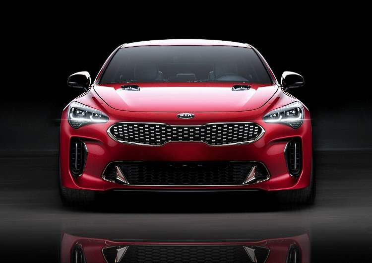 Front view of the Kia's sports sedan